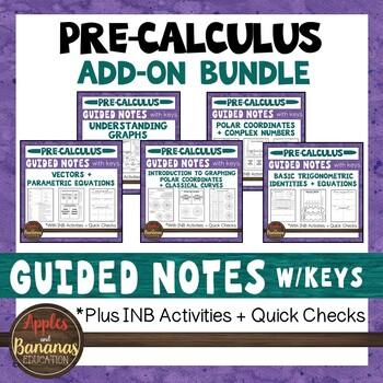 Precalculus Interactive Notebooks | Teachers Pay Teachers