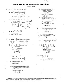 Pre-Calculus Board Session 11,ACT/ SAT Prep,vectors,solve