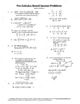 Pre-Calculus Board Session 12,ACT/ SAT Prep,vectors,solve adv. open sentences