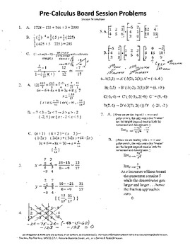 Pre-Calculus Board Session 14,ACT/ SAT Prep,matrices,limit