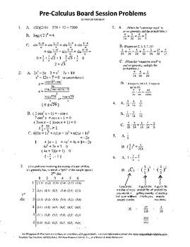 Pre-Calculus Board Session 16,ACT/ SAT Prep,probability,adv. open sentencework