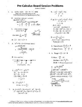 Pre-Calculus Board Session 17,ACT/ SAT Prep,statistics,adv. open sentencework