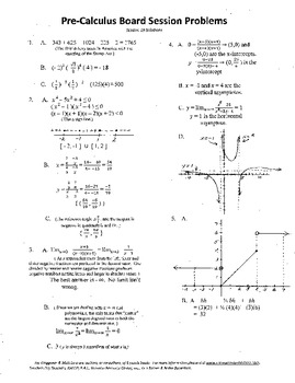Pre-Calculus Board Session 19,ACT/ SAT Prep,limits,asymptotes,graphing