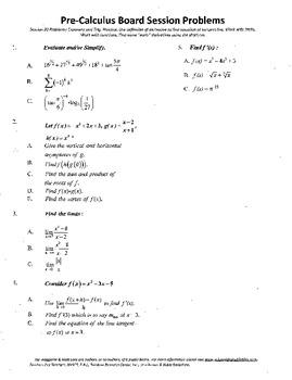 Pre-Calculus Board Session 20,ACT/ SAT Prep,def. derivative,adv. open sentence