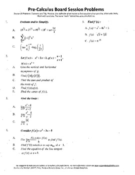 Pre-Calculus Board Session 20,ACT/ SAT Prep,def. derivativ