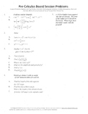 Pre-Calculus Board Session 9,ACT/ SAT Prep,functions,solve adv. open sentences