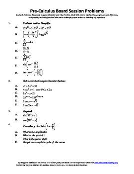 Pre-Calculus Board Session 8,ACT/ SAT Prep,trigonometry,solve open sentences