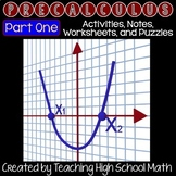 PreCalculus Bundle - First Semester (Trig, Functions, Logs, Function Analysis)