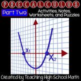 Pre Calculus Bundle - Second Semester (Vectors, Conic Sections, Sequences, etc)