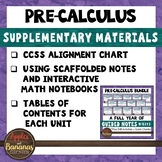 Pre-Calculus Bundle Supplementary Materials and CCSS Align