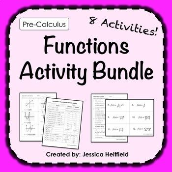 Pre-Calculus Activities Bundle: Functions