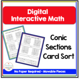 Pre Calculus Digital Interactive Math Conic Sections Card Sort