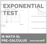 Pre-Calculus Exponentials Test