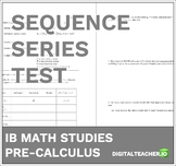 Pre-Calculus Sequence & Series Test