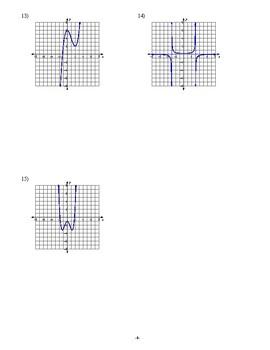 Pre Calculus - Functions  - Homework Pack