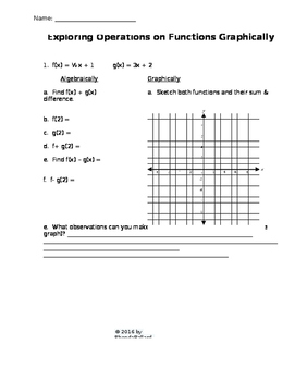 Pre-Calculus Graphing Calculator Activites