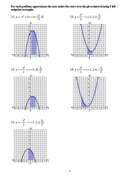 Pre Calculus - Introduction to Calculus - Homework Pack
