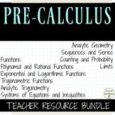 PreCalculus Mega Teacher Resource Bundle