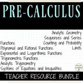 PreCalculus Curriculum Bundle
