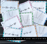Pre Calculus Parabolas Matching Task Cards