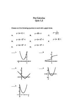 Pre-Calculus Quizzes