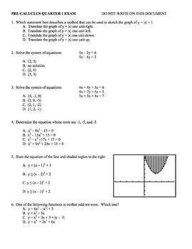 Pre-Calculus Resources