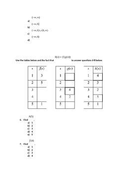 Pre-Calculus Semester 1 Exam