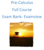 Pre-Calculus Test Bank: Entire Course (Examview)