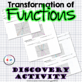 Pre-Calculus Transformation of Functions - Discovery Activity