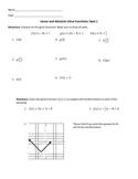 Pre-Calculus Unit 1 Quiz Bundle - Piecewise, Inverse, Composition