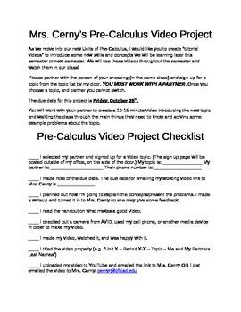Pre-Calculus Video Project