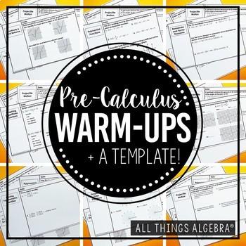 PreCalculus Warm-Ups