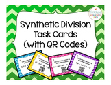 Pre Calculus or Algebra 2 Synthetic Division Task Cards with QR Codes