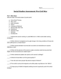 Pre-Civil War Assessment