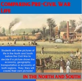 Pre-Civil War - Comparing Life in the North and South