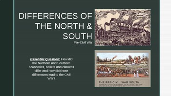 North and South | American Battlefield Trust |Civil War North And South Differences