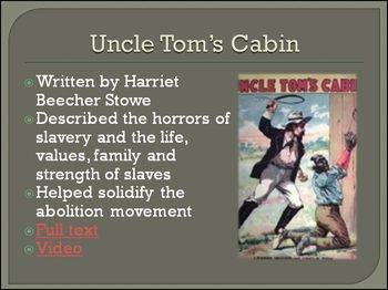 Pre-Civil War Emotional Impact of Slavery Differentiated PowerPoint
