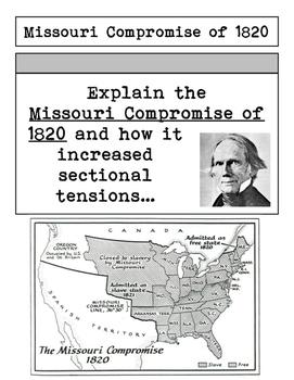 Pre-Civil War Interactive Notebook Foldable Files