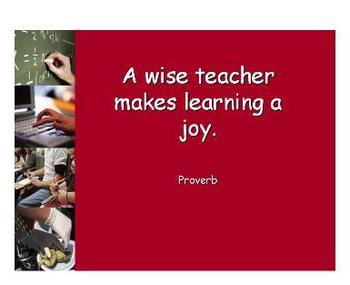 Pre-Class - Education PowerPoint Quote Sets