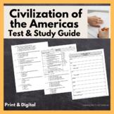 Pre-Colombian Americas Test, Study Guide, & Jeopardy (Maya, Aztec, Inca, Inuit)