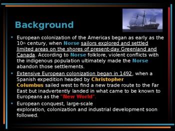 Pre-Colonial America - European Colonization of the Americas