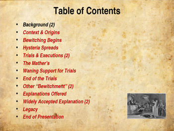 Colonial America - The Salem Witch Trials