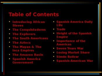 PreColonial America - The Spanish Empire in the Americas
