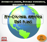 Pre-Colonial America Unit Plans