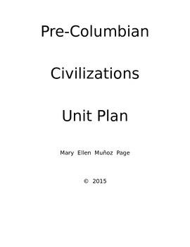 Pre-Columbian Civilizations Unit Plan