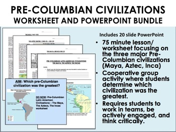 Us History, Pre Columbian Worksheets & Teaching Resources   TpT