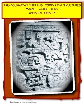 Pre-Columbian Indians: Comparing 3 Cultures Mayan, Aztec, Inca - What's That?