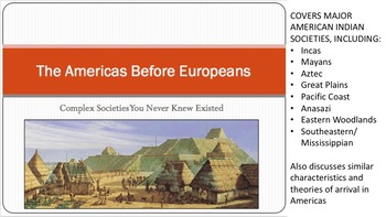 Pre-Columbus American Indian Societies: Lecture and PowerPoint
