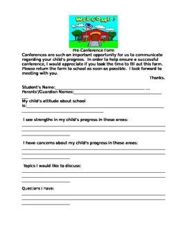 Pre-Conference Form