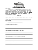 Pre-Conference Form for Parents
